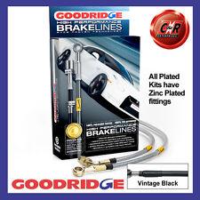 Alfa Romeo 156 (Not GTA) 97-05 Goodridge Zinc V.Black Brake Hoses SAR1401-4P-VB