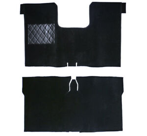 Black Velours Carpet Set for Renault R16 Baujahr 1965-1980