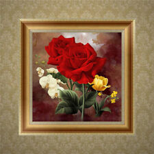 5D Red Rose Flower Diamond Embroidery Painting DIY Cross Stitch Home Wall Decor
