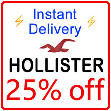 *25% Off* Hollister Coupon Promo Code = Instant Delivery =