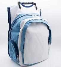 SKY Modischer Rucksack gepolstert Blau Weiß 4 Taschen Sport Tasche Schulrucksack