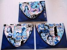Magazine Clutch Trendy Ladies Crossbow Purse Handbag Color Fashion Wallet Blue