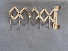 Vintage French Chrome Wall Expandable Towel Rack Rail w/ 5 hooks