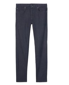BANANA REPUBLIC Slim Dark Wash Japanese Traveler Jean - RINSE WASH - 35X32 - NEW
