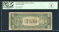 "Fr. 1614* 1935-E $1 *Star* Silver Certificate ""Inverted Back Error� Pcgs Vg-8"