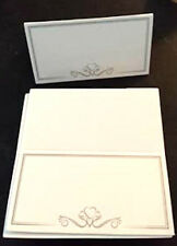 10 x packs of 50 x table place cards white party, conferences, weddings FREE P&P