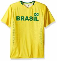 Brazil Men's Soccer  Federation Yellow Jersey Short Sleeve Tee