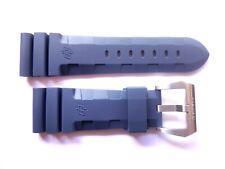 Rubber strap band 26mm for Panerai -- Accordion Blue Cinturino 26 mm buckle