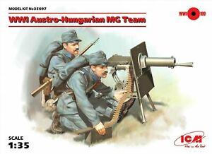 ICM 1:35 scale model kit - WWI Austro - Hungarian MG Team 2 Figures  {ICM35697}