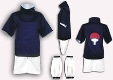 Naruto Cosplay Costume Sasuke Uchiha 1st Any Size
