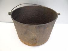 Antique Old Metal Cast Iron Griswold Erie 011A Cauldron Camping Cooking Bean Pot