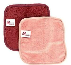 BADIZIO Beauty Super-Flausch Gesichtreinigungs- tücher 4tlg. Rot & Rosa ct13