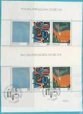 Portugal aus 1989 ** postfrisch und gestempelt Block 67 - Gemälde 20.Jahrhundert