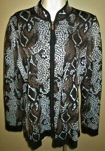 Exclusively MISOOK Zipper Front CARDIGAN SWEATER JACKET M Medium TOP