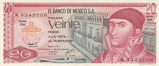 1977 Mexico 20 Pesos, Morelos  Bank Note. Crisp uncirculated