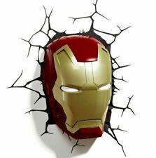 MARVEL Avengers IRON MAN 3D FX Light Wall Deco Night Light + Sticker *FREE POST*