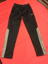 Under Armour Boys Youth Medium Running/athletic Pants Black And Gray