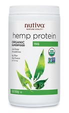 Nutiva Organic Hemp Protein 15 g, 16Ounce Container, New, Free Shipping.