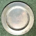ANTIQUE PEWTER PLATE BY JAMES YATES 19th century 25cm 580g CROWN X