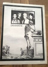 DRAMATIS No One Lives Forever UK Poster size Press ADVERT 16x12 inch -Gary Numan