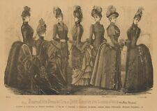 UNBEKANNT (19.Jhd), Pariser Damenmode, Turnürenkleider,  1887, HSt.