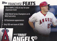 2019 TOPPS BASEBALL FRANCHISE FEATS INSERT CARD # FF-3 - MIKE TROUT - ANGELS