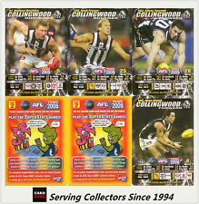 2005 AFL Teamcoach Trading Card How To Play Team set Collingwood (10)