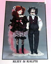 "Ruby & Ralph 30"" Vtg 90s cloth doll Pattern Pear Blossoms Saloon FLoozy"