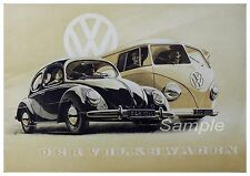 VINTAGE VW VOLKSWAGEN ADVERTISING A2 POSTER PRINT