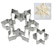 Metal Snowflake Biscuit Cookie Cutter Fondant Cake Decorating Mold Mould Pop