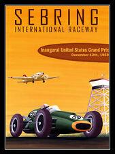 Sebring Raceway, rétro en métal aluminium SIGNE VINTAGE/man cave/garage