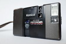 KONICA RECORDER AUTO FOCUS HALF FRAME FILM CAMERA, RARE! PARTS OR REPAIR. JUNK!
