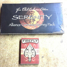 Serenity/Firefly Deck of Cards & Alliance Currency Money Pack- Sealed!