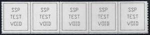 "TD138 Test/Dummy Strip of 5 ""SSP Test Void"" Mint NH (stk2)"
