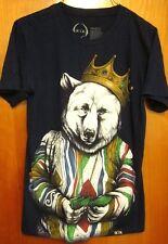 ROOK art tee Royal Polar Bear small T shirt badass throwback sweater w/ cash