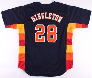 Jon Singleton Signed Astros Jersey (TriStar Hologram) Houston 1st Baseman