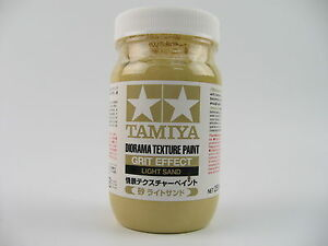 LARGE Tamiya   DIORAMA TEXTURE PAINT  LIGHT SAND Ground Grit Effect 250ml  87122