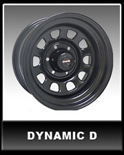 "DYNAMIC D-SHAPE DRIFT Steel Black Sunrasia 16x8"" 4X114.3 Steel Rim 0P"