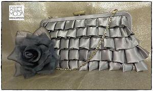 Clutch Bag Satin Tutta Folds Pleated'+ Chain + Fastening Zipper 9600770042