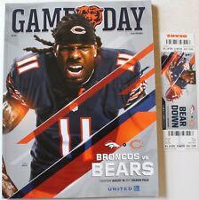 2017 Chicago Bears Denver Broncos Program w/Ticket Kevin White Cover Pre-Season