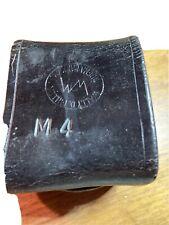 Vintage Wally D Miller Black Leather Police Portable Radio Belt Holder