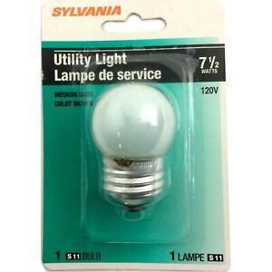 SYLVANIA S11 7.5W 7-1/2 Watt Incandescent Soft White Utility Night Light Bulb