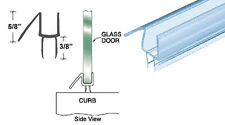 "CRL Co-Extruded Clear Bottom Wipe with Drip Rail for 1/4"" Glass - 25 in long"