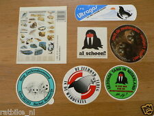 STICKER,DECALS SET ANIMALS ZEEHOND,SEAL LOT OF ABOUT 19 STICKERS SEE PICTURES