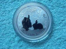 2011 Australian Silver Lunar Rabbit 1 OZ BU from Roll