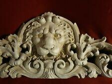 TOSCANO European Style Remoulage Lion Sculptural Wall / Over Door Pediment