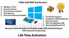 Microsoft Windows 10 Pro 32/64Bit Genuine License & USB Boot Installation Drive