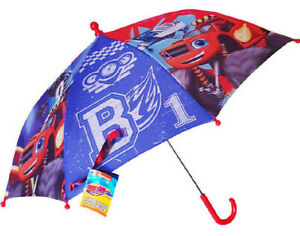 BLAZE AND THE MONSTER MACHINES Umbrella Nickelodeon Children Brolly AJ and Blaze