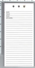 New York/New Jersey Police-Style Tour Duty Paper for the Summons Book (3 Pads)