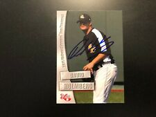 David Holmberg In Person Signed 2011 Midwest League Top Prospect Card